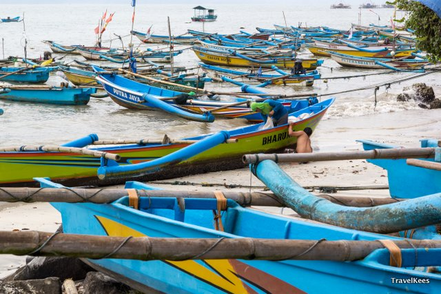 vissersboten pangandaran