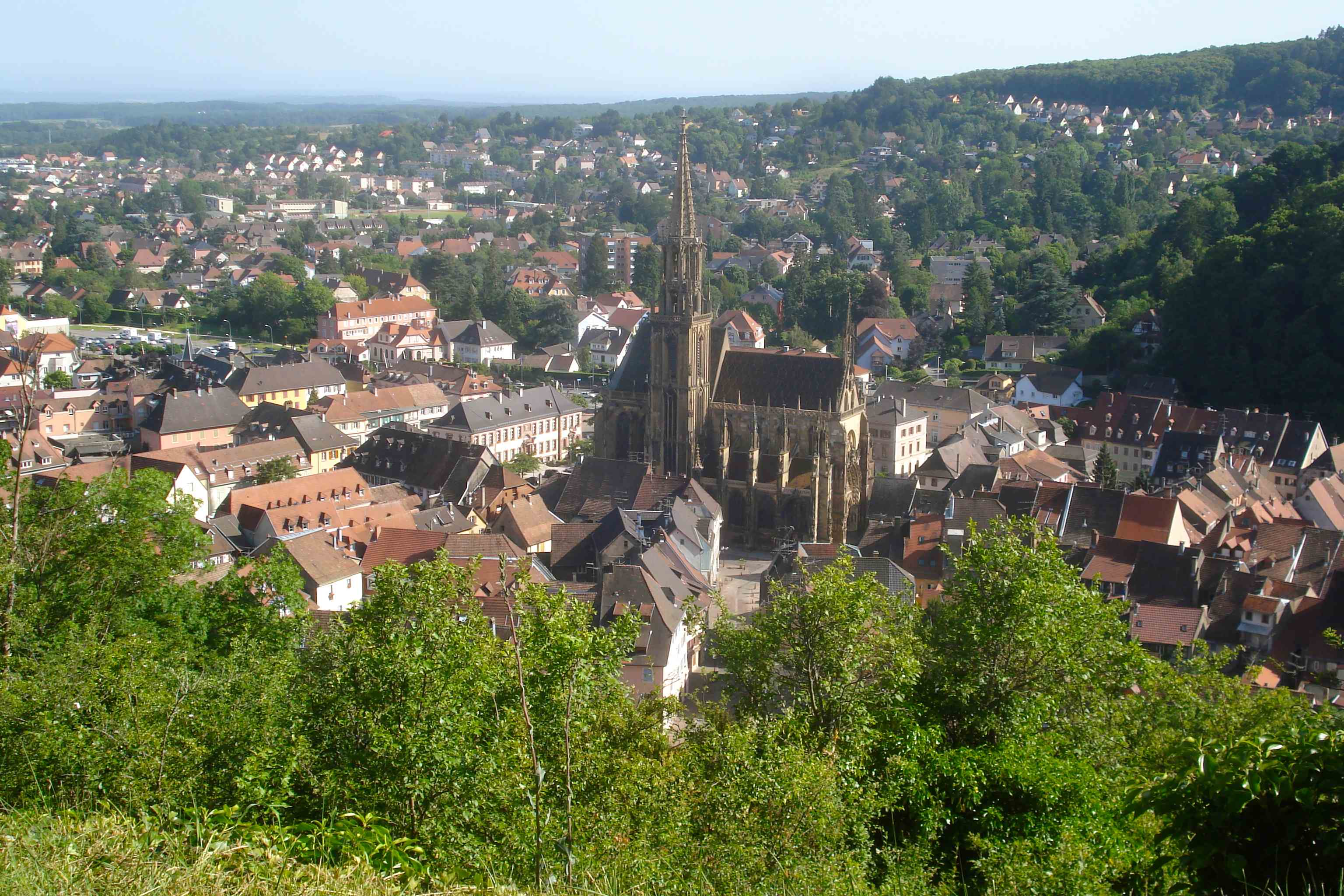 Uitzicht over Thann, Vogezen