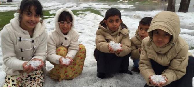 Sneeuw in Abu Dhabi?