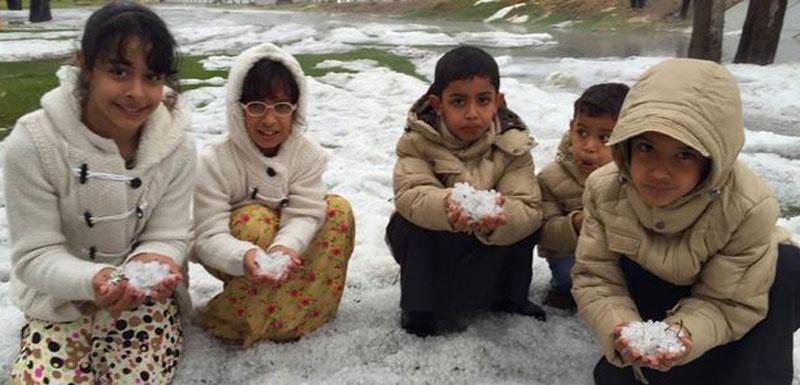 sneeuw in abu dhabi