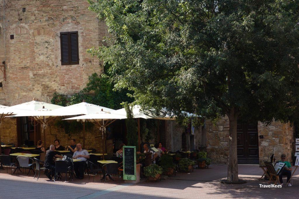 terrasje, toscane