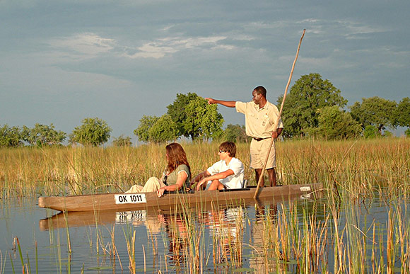 kanosafari in botswana
