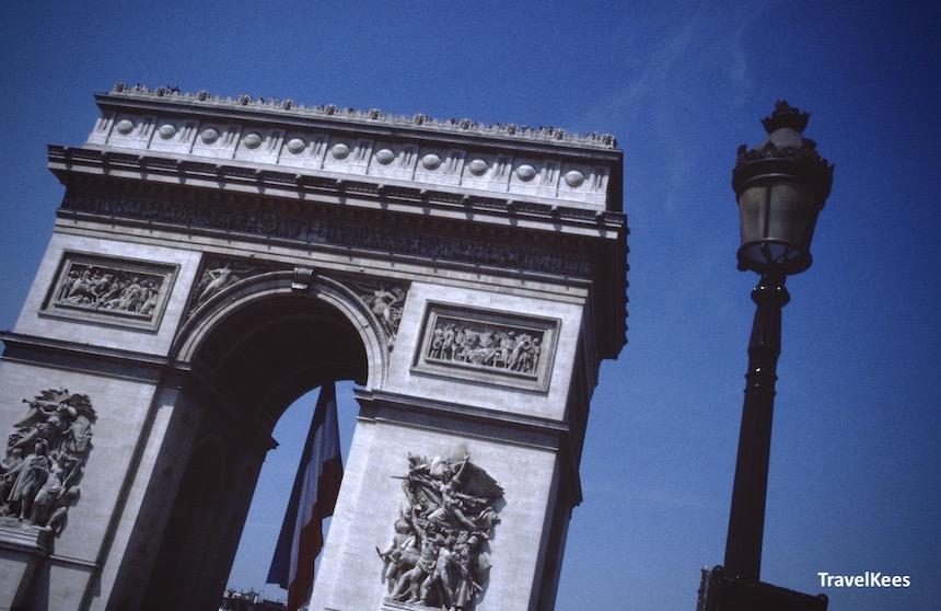 arc de triomphe, busreis parijs