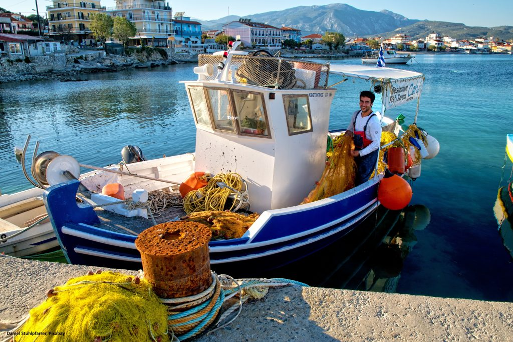 fishing boat, samos