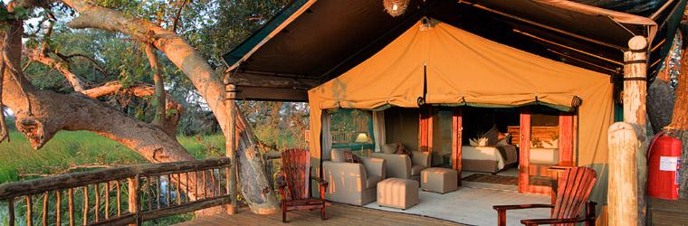 In Gunn's Camp logeer je ook onder canvas, maar dat is dan ook de enige overeenkomst met een tent...