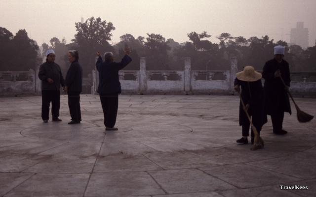 beijing, tiantan park, tai chi