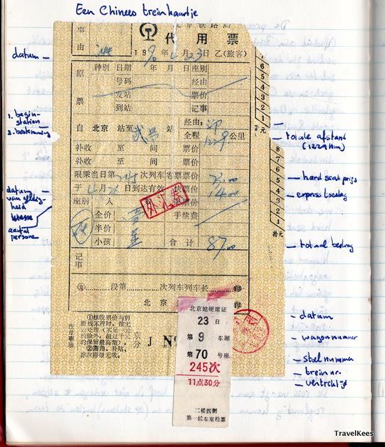 chinees treinkaartje 1990