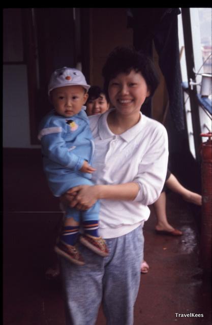 passagiers riviercruise over de Yangtze