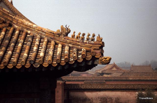 beijing, verboden stad, daken