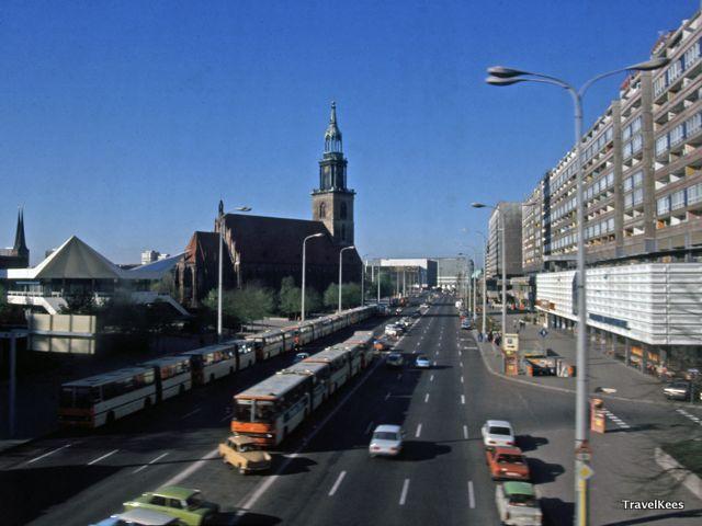 door de ddr en polen per trein, oost-berlijn