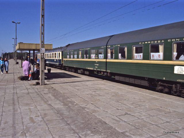 op het station van Rzepin, DDR en Polen per trein