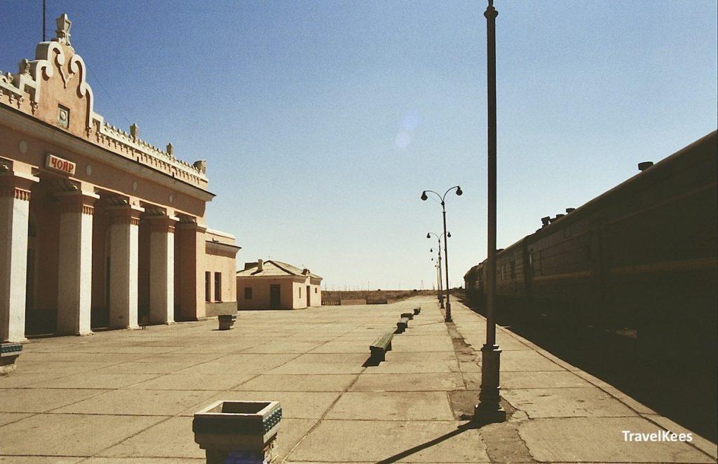 treinstation Tsjojr, Mongolië, Gobi woestijn