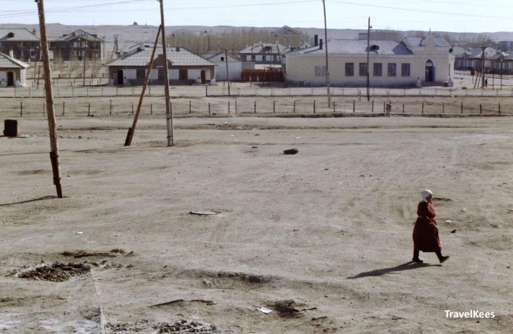 dorp in de gobi woestijn