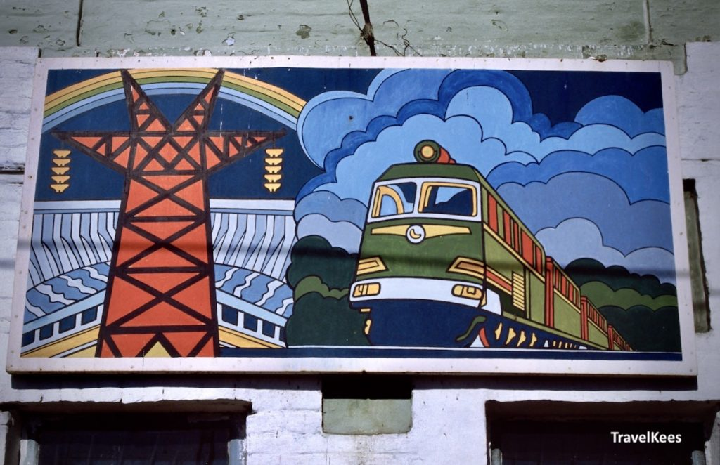 billboard met trein, transsiberië express