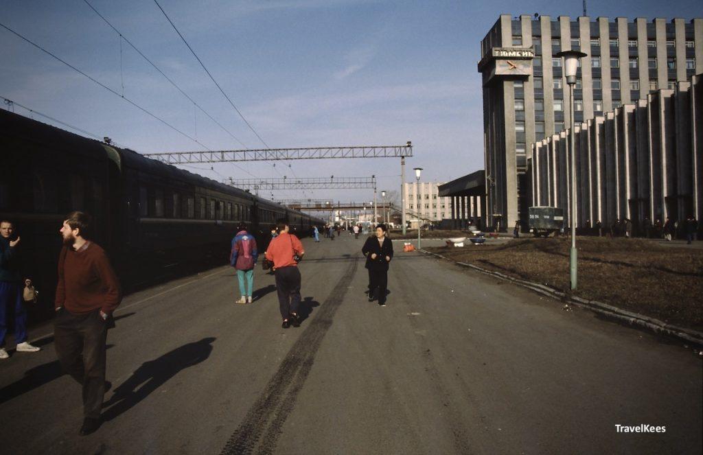 Tjoemen treinstation, transsiberië express