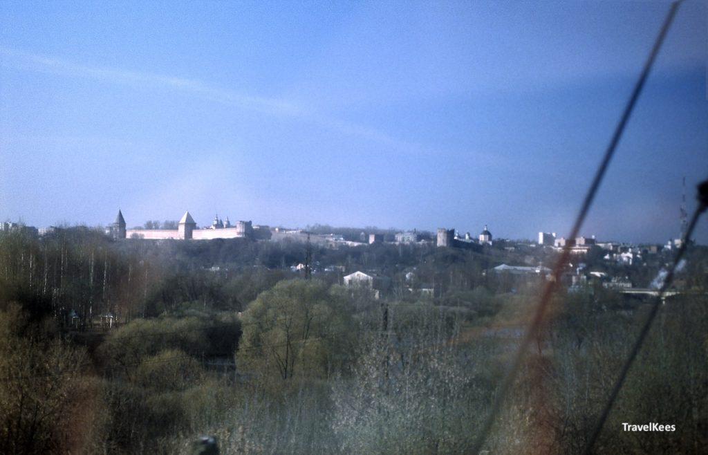 trein naar moskou, smolensk, stadsmuur