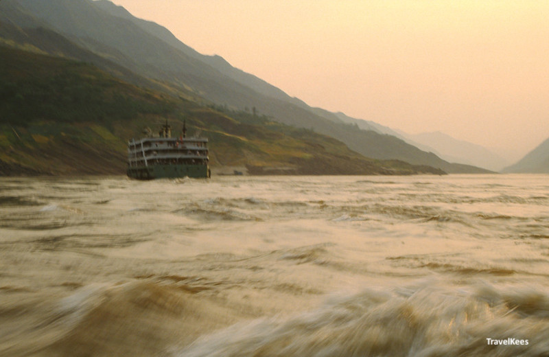 ferry boot over de rivier