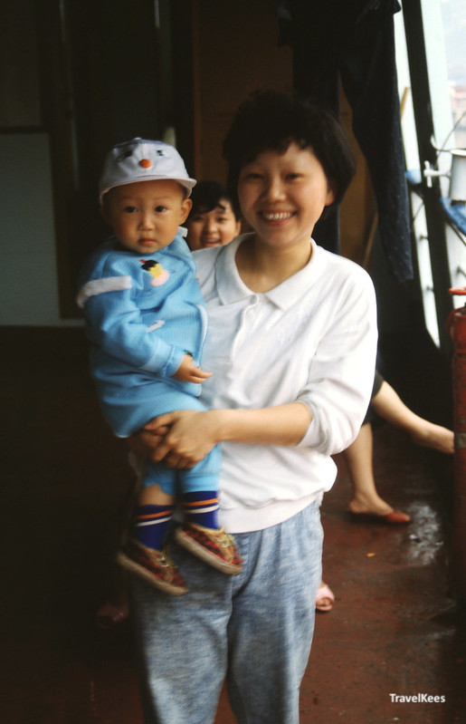 passagiers op de yangtze ferry