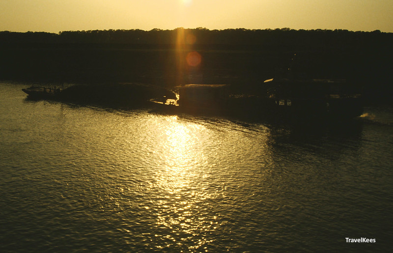 zonsondergang yangtze rivier