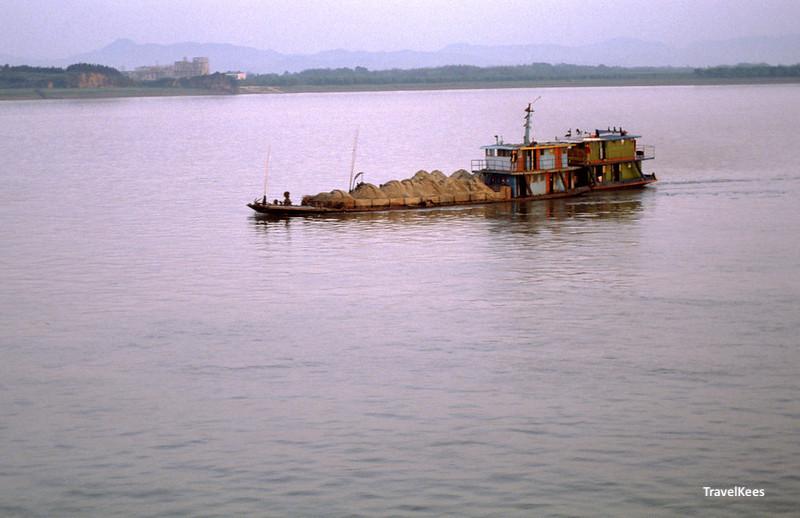 bootverkeer op de Yangtze rivier, China
