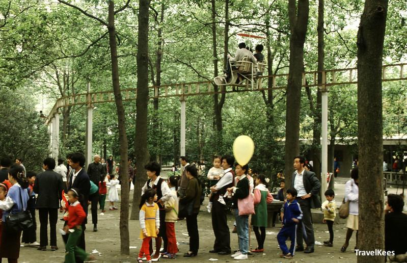 people in renmin park, chengdu