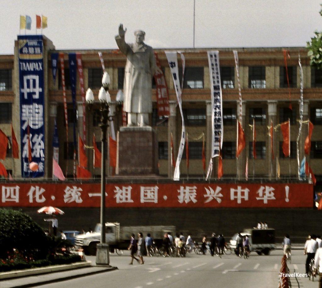 standbeeld Mao Zedong in Chengdu