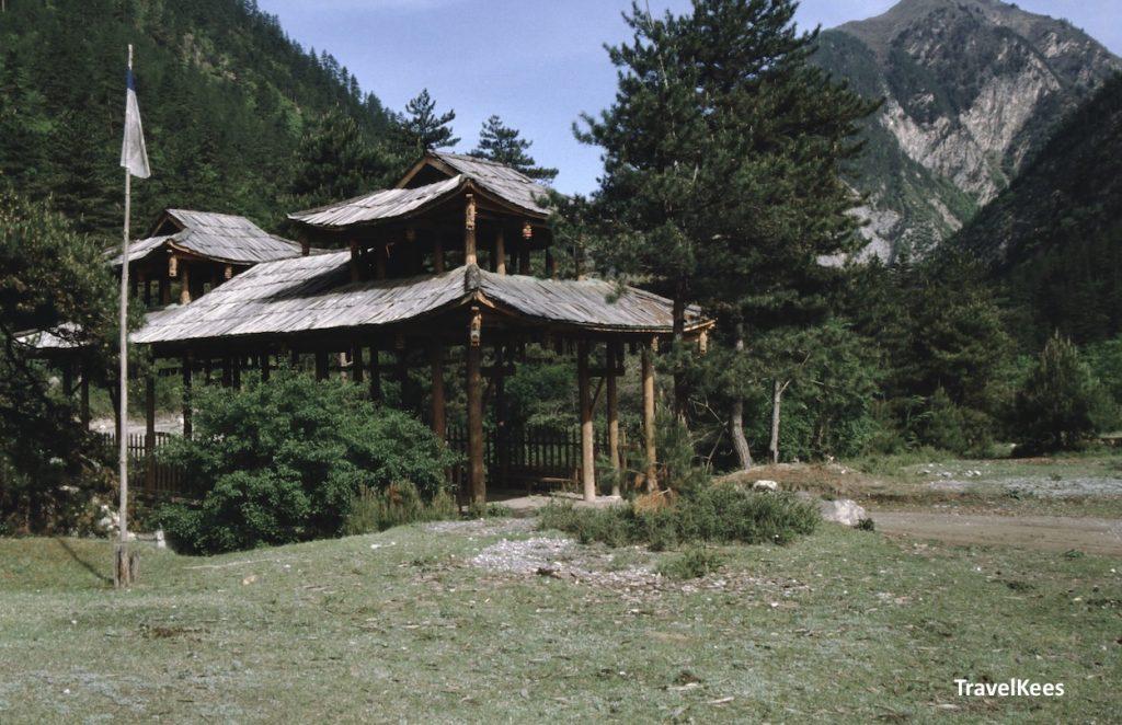 houten brug in jiuzhaigou