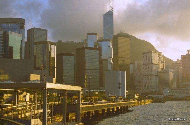 hongkong zonsondergang