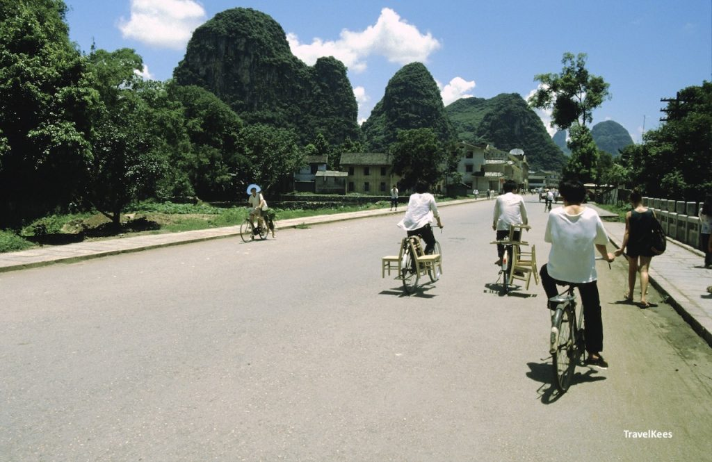 fietsen in Yangshuo