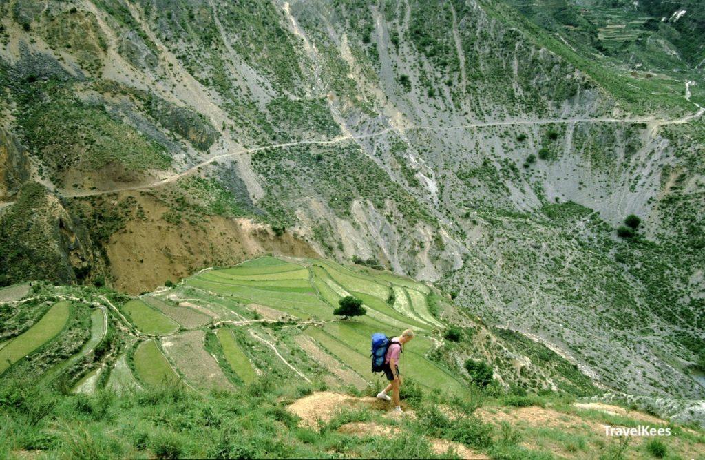 wandelen in de bergen van Yunnan
