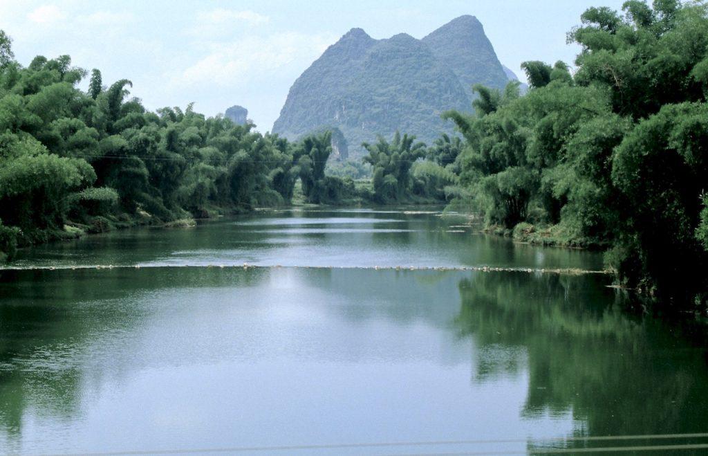 li rivier bij yangshuo, china