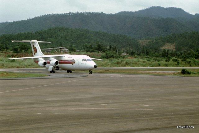 vliegtuig in mae hong son