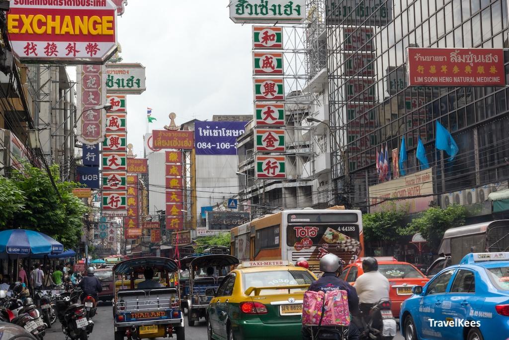 straatbeeld chinatown, bangkok