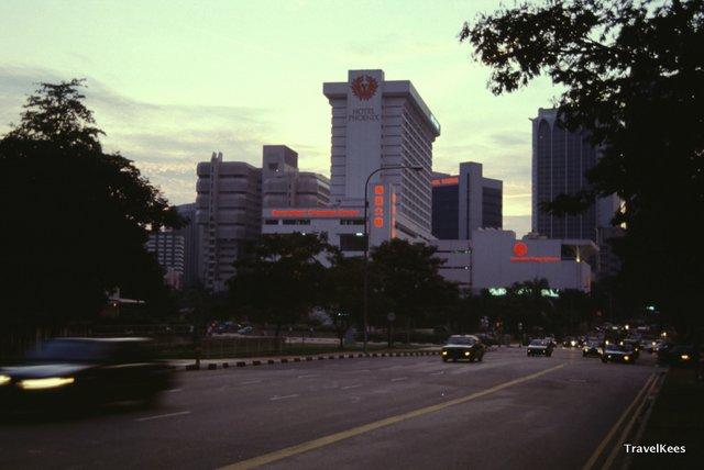 aankomst in Singapore