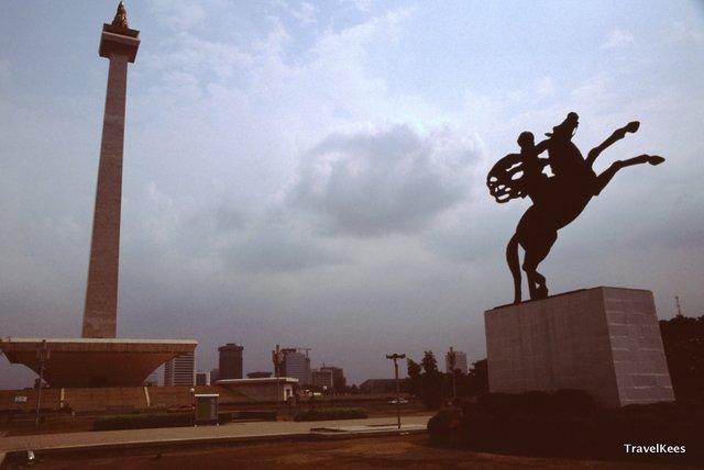 eerste dag in Jakarta