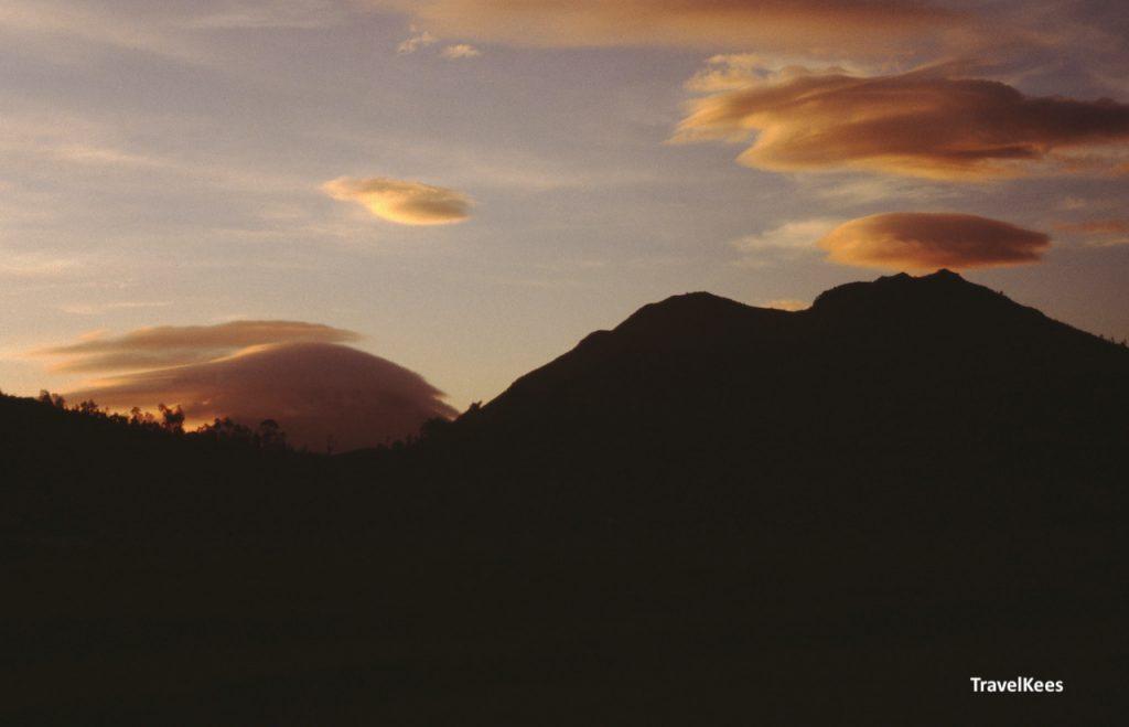 vulkaan, lenswolken, java