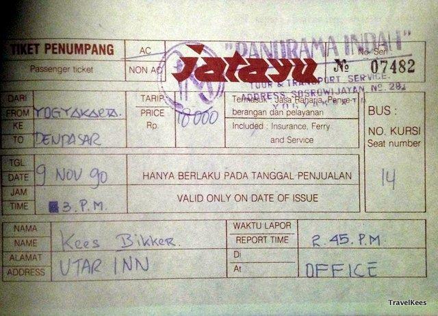 busticket naar Bali