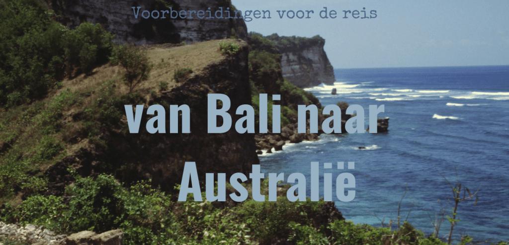 van bali naar australië