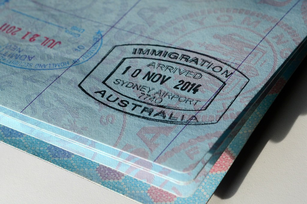 passport stamp australia