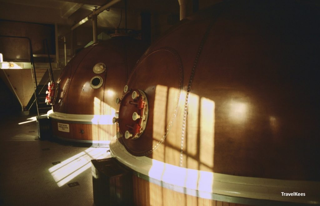 brouwketels in speight's brewery