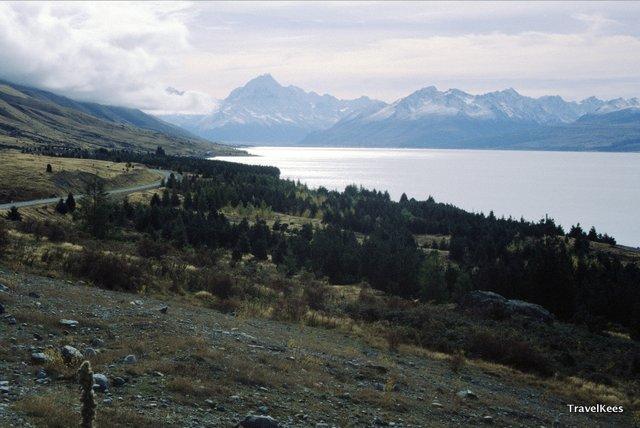 nieuw-zeeland, mount cook, lake pukaki