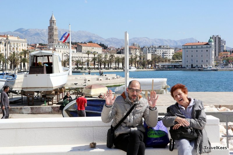 toeristen in Split