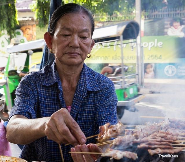 eetstalletjes van Bangkok, saté
