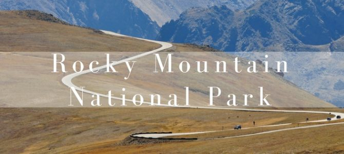 Autoroute: de Trail Ridge Road door het Rocky Mountain National Park