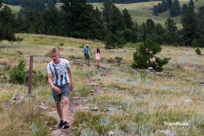 Custer State Park, Black Hills, Prairie Trail, wandeling