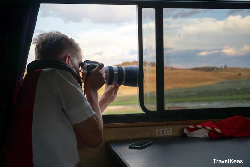 yellowstone, fotograferen, camper