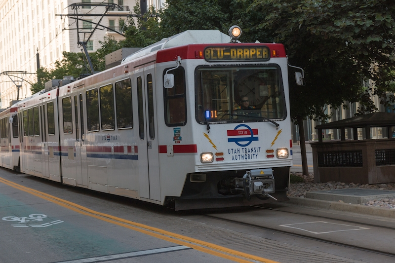 salt lake city, tram, light rail, public transport,