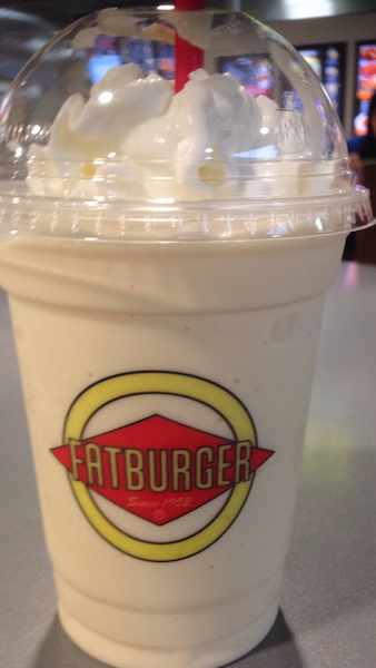 las vegas, fat burger, milkshake