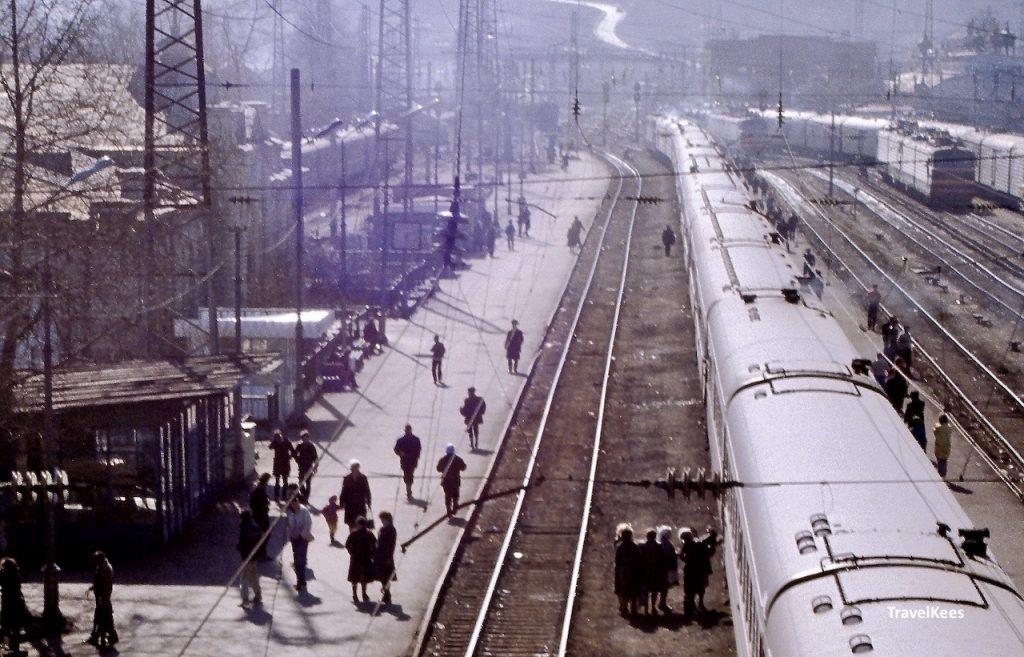 treinstation in Siberië