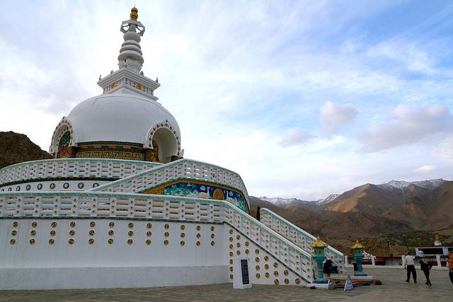 ladakh, leh, stupa, shanti stupa